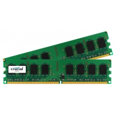 Crucial 4GB DDR2 800MHz KIT CL6 PC2-6400 / UDIMM 240pin / 2x 2GB