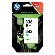 HP SD 449 EE ink cartridges No. 338 and 343