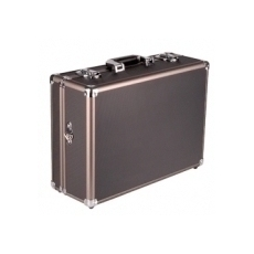 mantona Aluminium Foto Case Basic M black / brown
