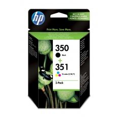 HP SD 412 EE ink cartridges No. 350 and 351