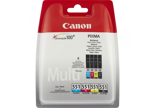 Canon CLI-551 C/M/Y/BK Multi Pack Blister